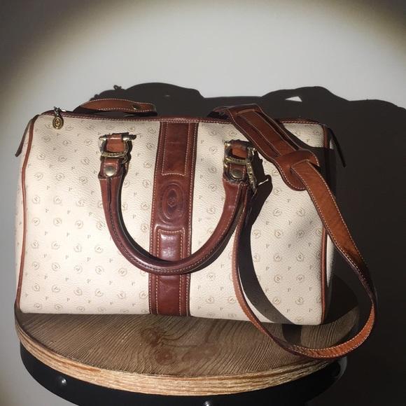 Pollini Handbags - Vtg Pollini Signature Handbag With Shoulder Strap